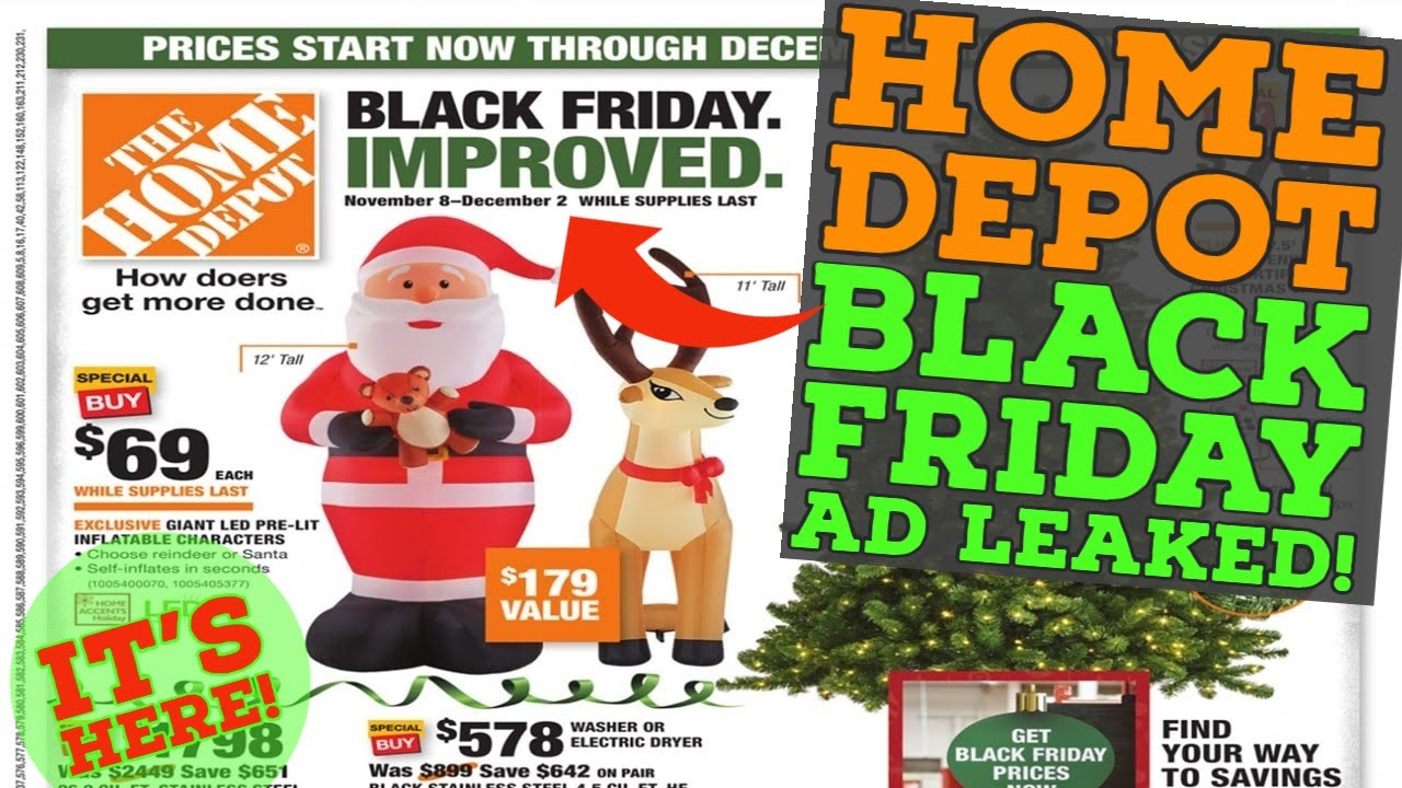 Home Depot Black Friday 2020 Leaked Youtube
