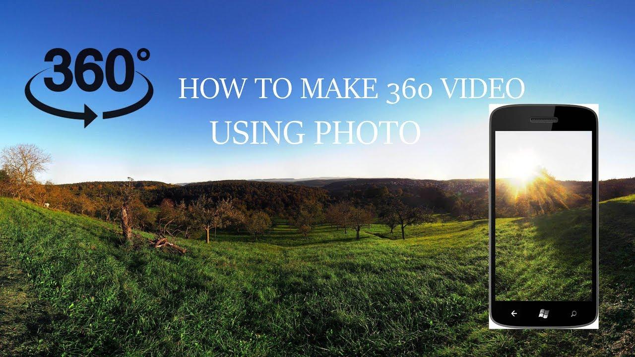 How to make 360 Video using panorama image