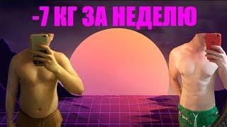 постер к видео Как похудеть * Диета -7 кг за неделю * проверка диеты * худеем к лету