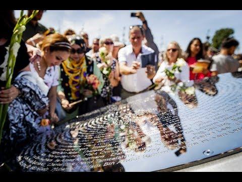 Nationaal Monument vliegramp MH17 in Vijfhuizen onthuld - Nieuwsminuut #1707