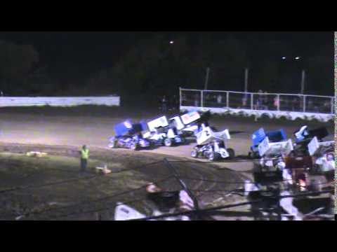 Mickey's ASCS A Feature win at Creek County Speedway Friday 7/18/14