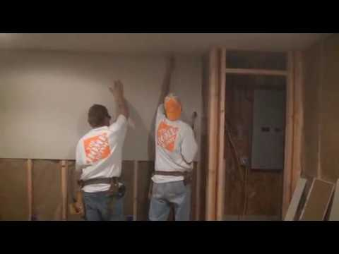 DIY Hanging Drywall On the Walls (Part 2) - YouTube