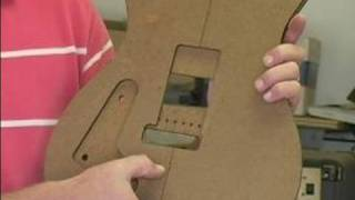 How To Make A Homemade Electric Guitar : Installing The Bridge On An Electric Guitar
