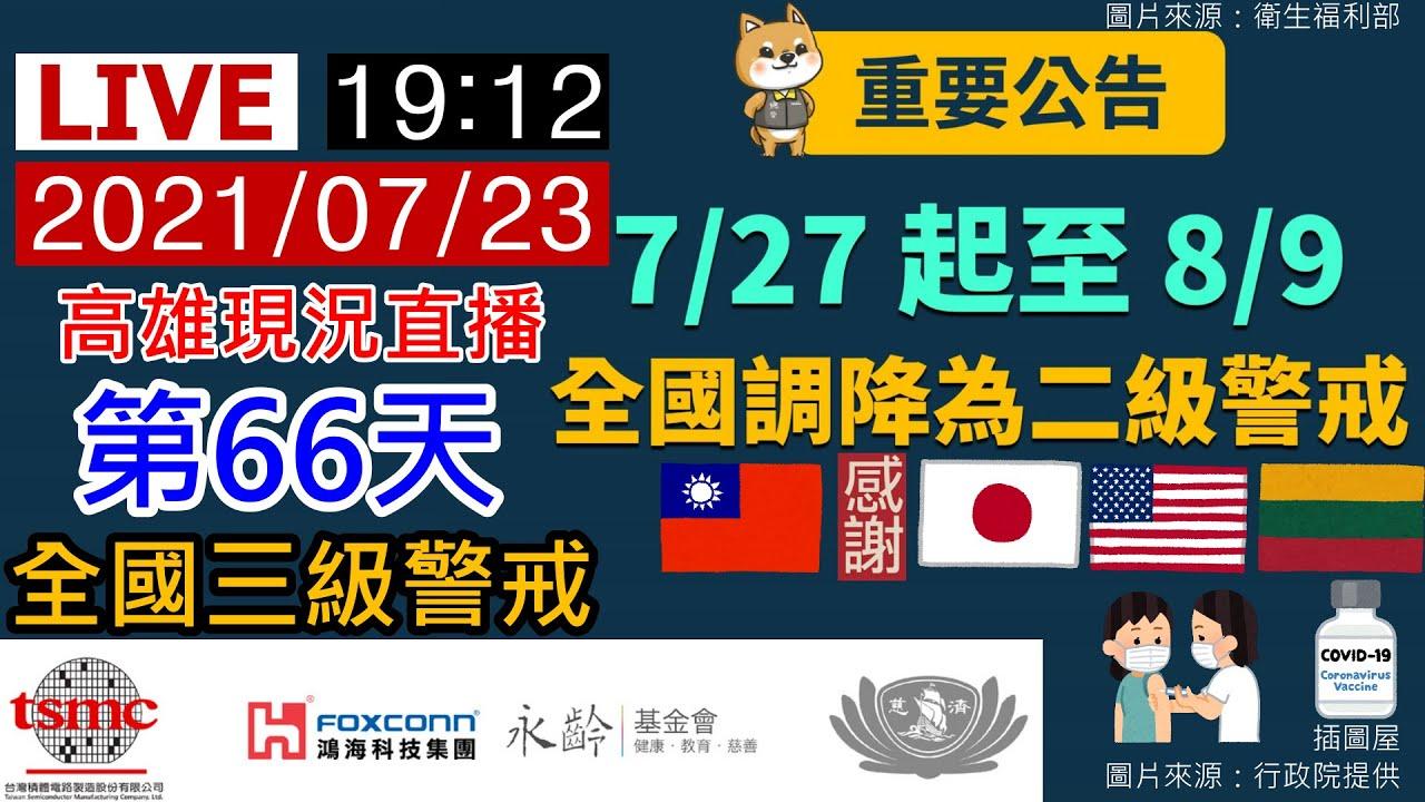 20210723【全國疫情警戒第三級】第66天1912高雄現況直播《路口CCTV監視器影像》【沒有聲音】勤洗手、戴口罩、保持社交距離【莫忘世上苦人多】我們的敵人是病毒不是彼此,大家都是臺灣人都是一家人