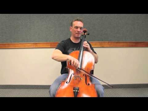 Cello Instruction: F major 2 octave scale - 3rd position training