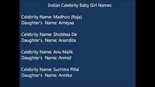 Indian celebrity baby Girl names