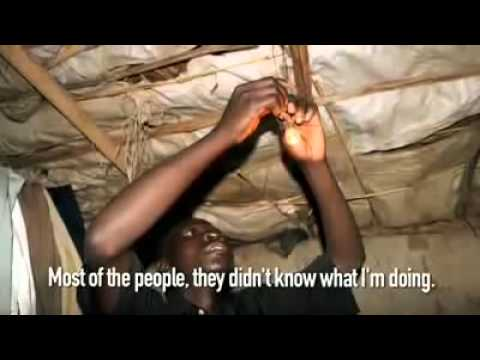 African Genius, 14 Year Old Self Taught Engineer makes Electricity For Village NyInternetCafe