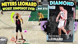 2k gave Diamond Meyers Leonard the WORST JUMPSHOT IN 2K HISTORY AND MADE HIM USELESS... NBA 2K19