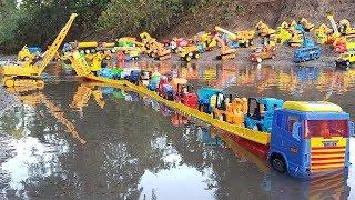 Transportation Vehicles Toys For Kids Dump Truck Excavator Building Blocks Toy Cars For Children