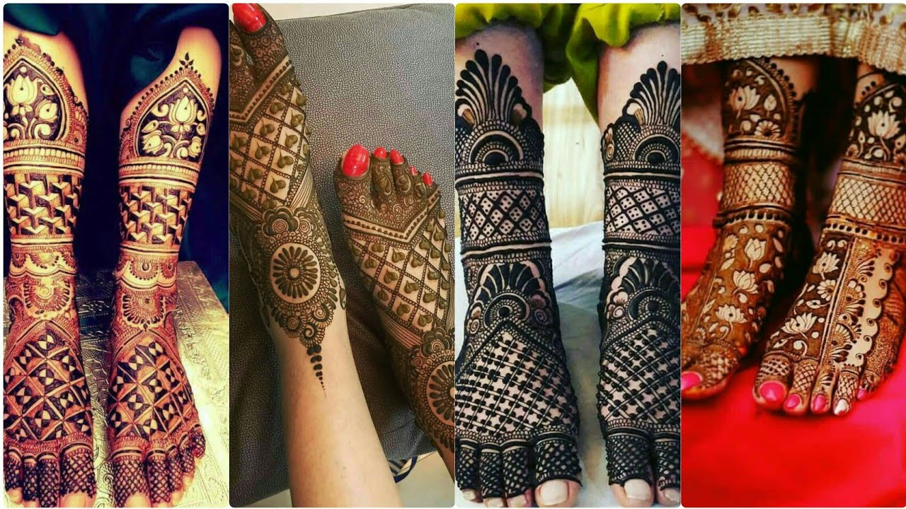 leg mehandi design bridal