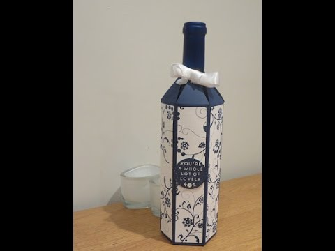 Wine Bottle Gift Box Tutorial – Full size wine bottle bag