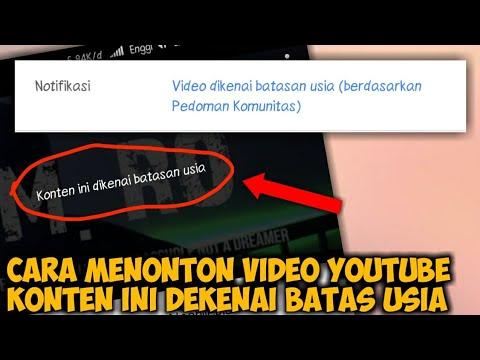Cara Mengatasi YouTube Konten Ini Dikenai Batas Usia Di Android