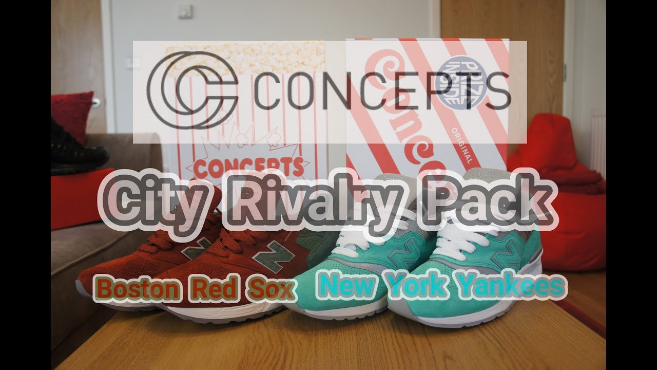info for 537fc c2b02 Concepts x New Balance 997 998   City Rivalry Pack   Boston Red Sox   New  York Yankees
