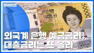 외국계 은행부터 예금금리 인하...대출금리는 또 올라 …