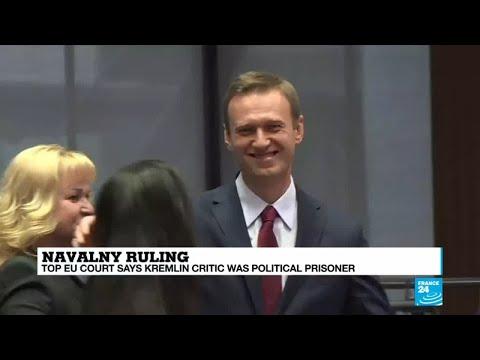 Top EU court says Kremlin critic Navalny was political prisoner