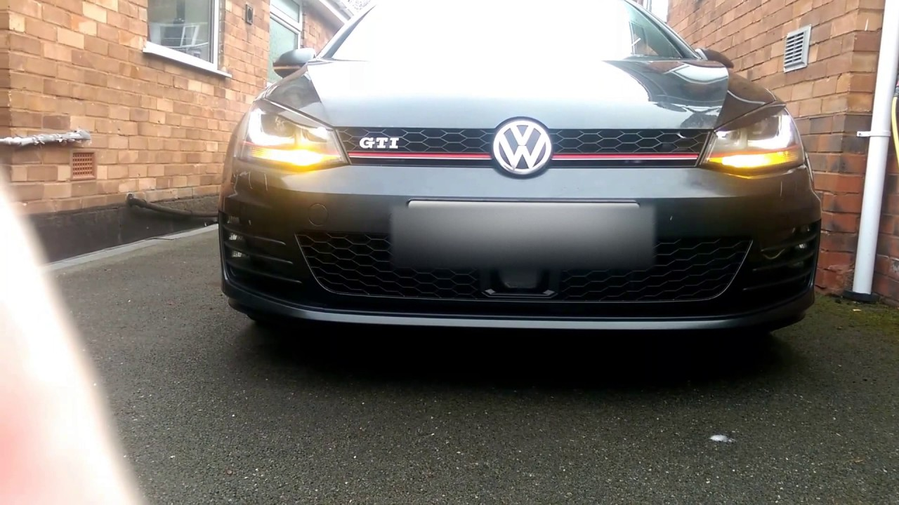 VW golf Mk7 Pulsing DRL with indicators