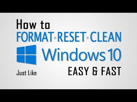 How to Format - Reset - Clean Windows 10 Easy & Fast - Hindi