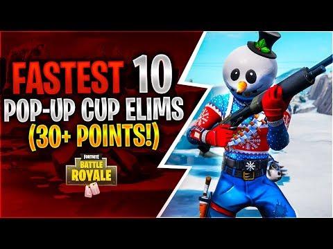 FASTEST 10 POP-UP CUP ELIMS 30+ Points