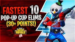 FASTEST 10 POP-UP CUP ELIMS (30+ Points)