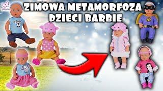 Zimowa metamorfoza dzieci Barbie. Nowe ubranka dla lalek❄ Openbox EVI LOVE ❄