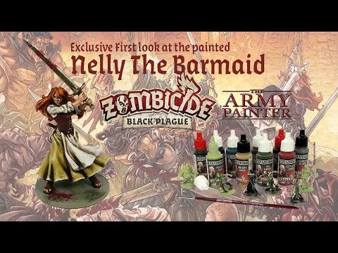 Exclusive first look at Nelly the Barmaid as a Painted miniature from Zombicide Black Plague
