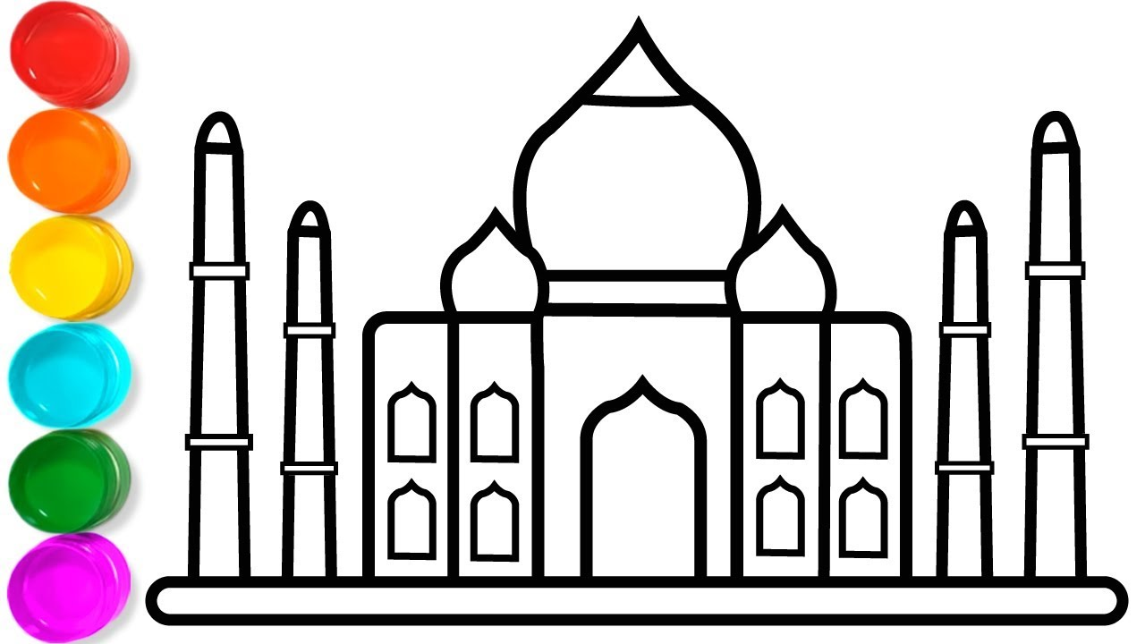 Pictures to draw 5th. How taj mahal coloring