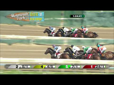 video thumbnail for MONMOUTH PARK 09-06-20 RACE 2