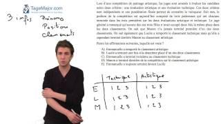 Video TAGE MAGE gratuit 5 - question raisonnement/argumentation