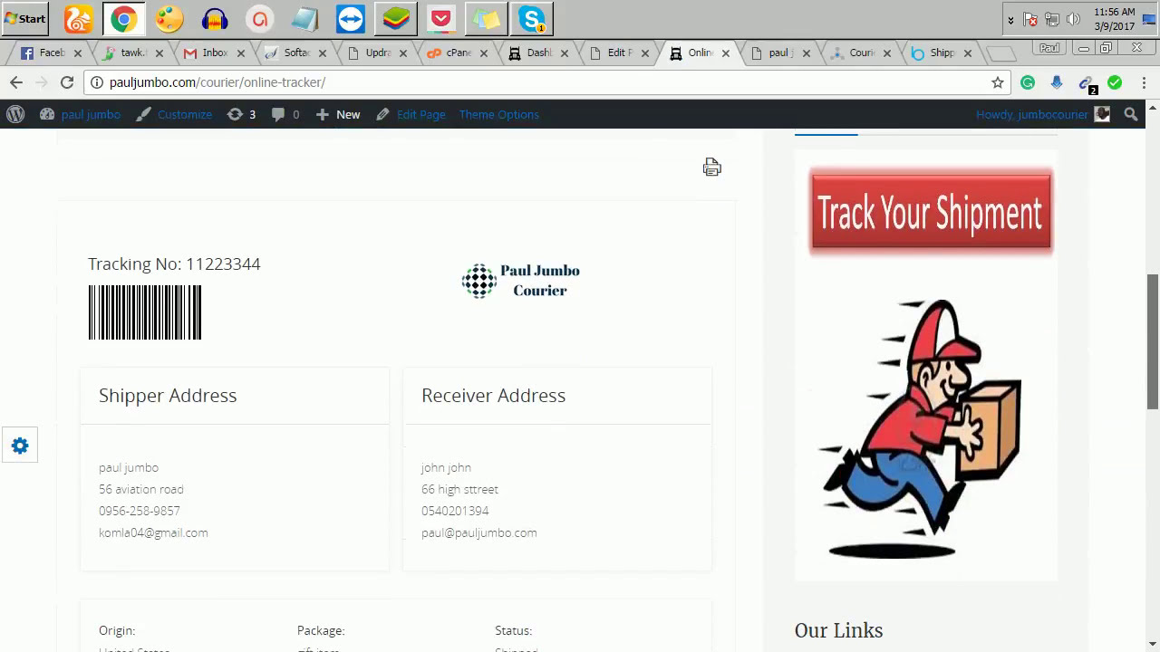 How To Create Shipping And Courier Website L Wordpress Courier Script  Turi  Madagwa 10:31 HD