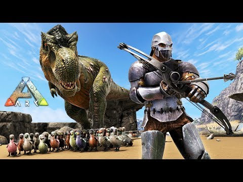 ARK: Survival Evolved - DODO ARMY w/ T-REX!! (ARK Ragnarok Gameplay)