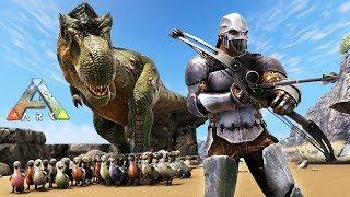 ARK: Survival Evolved - DODO ARMY w/ T-REX!! (ARK Ragnarok Gameplay)
