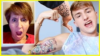 TATTOO PRANK ON PARENTS
