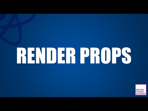 What are Render Props? | React Tutorials thumbnail