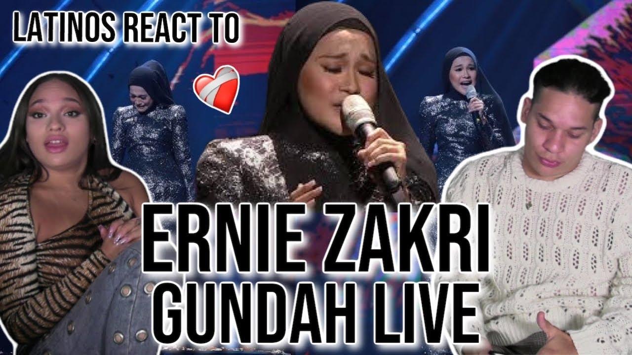Download What holding back TEARS sounds like 💔😭|Latinos react Ernie Zakri - Gundah LIVE