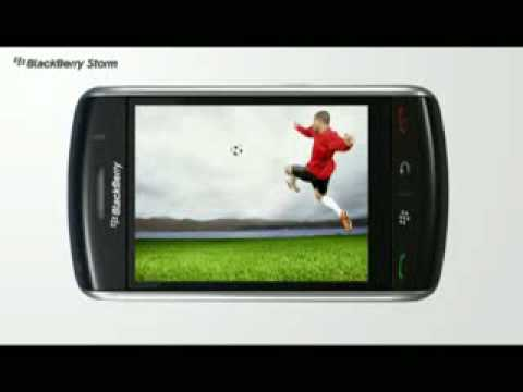 Blackberry Storm 9500 Unlocked PDA Cell Phone Ad Commercial