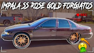 HERE'S Y THIS 1996 CHEVY IMPALA SS ON 26 INCH ROSE GOLD FORGIATOS SO SPECIAL 😱