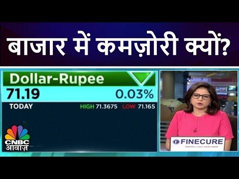 बाजार में कमज़ोरी क्यों?   Why Is Nifty Down Today?   CNBC Awaaz