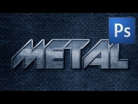 Photoshop Text Tutorial - Metal Text Effect