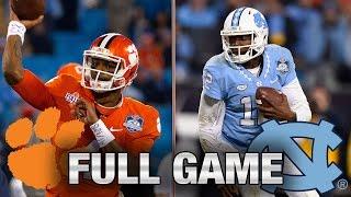 Clemson vs. North Carolina: Full Game   2015 ACC Football Championship