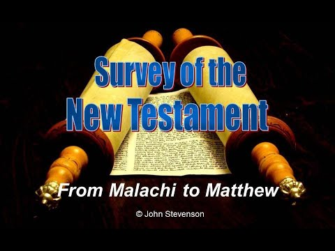 From Malachi to Matthew: The Historical Background of the New Testament
