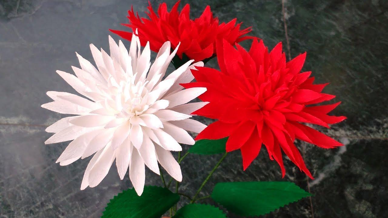 how to make paper flower dahlia   flower   157