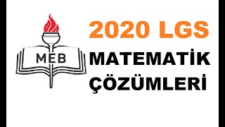 2020 LGS Matematik Soruları Ve Açıklamalı Çözümleri