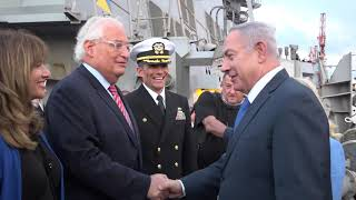 Israeli PM Netanyahu visits USS Ross in Ashdod to celebrate the U.S. Navy's 243rd birthday