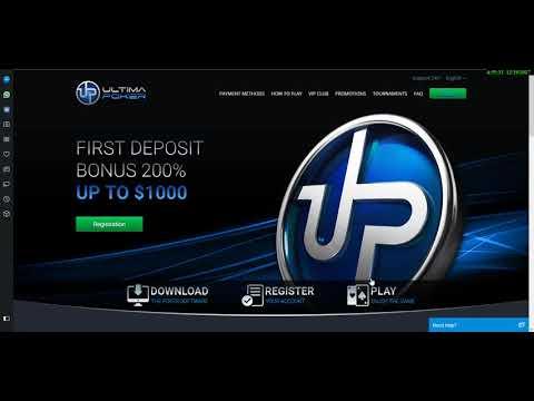 Ultima Poker - бездепозитный бонус за регистрацию