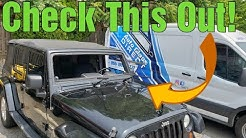 INSTALLING Jeep Wrangler GORILLA GLASS AND REMOVING WINDSHIELD with WRD ORANGE BAT