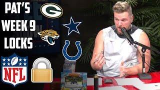 Pat McAfee's NFL Locks For Week 9