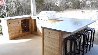 DIY Modern Outdoor Kitchen and Bar | Modern Builds | EP. 22