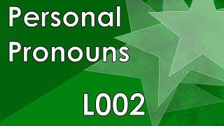 ESF100: Learning Esperanto - L002: Personal Pronouns