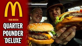 McDonald's NEW Quarter-Pounder *DELUXE* Food Review