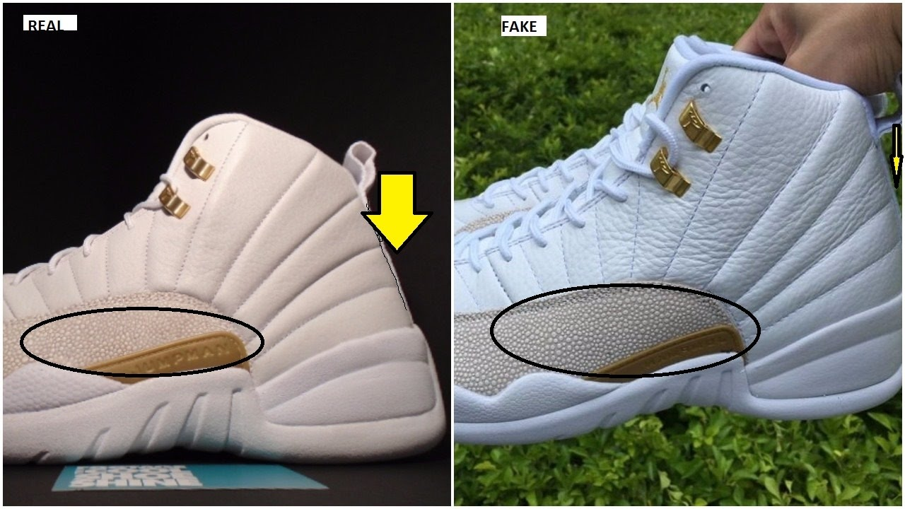 e84236b0dadd40 Fake Air Jordan 12 OVO Spotted  Quick Tips To Avoid them - YouTube